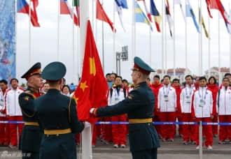 冬奥会中国团举行升旗仪式 确定佟健为开幕式旗手